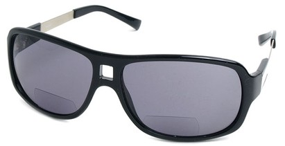 Angle of SW Aviator Bi-Focal Style #420R in Black, Women's and Men's