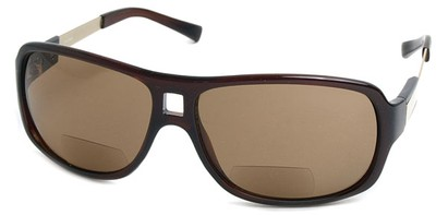 Angle of SW Aviator Bi-Focal Style #420R in Brown, Women's and Men's