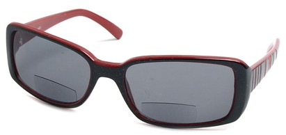 Angle of Omni #434 in Black and Red, Women's and Men's Square Reading Sunglasses