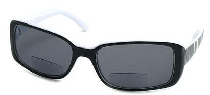Angle of Omni #434 in Black and White, Women's and Men's Square Reading Sunglasses