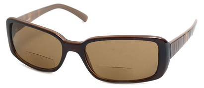 Angle of Omni #434 in Brown, Women's and Men's Square Reading Sunglasses