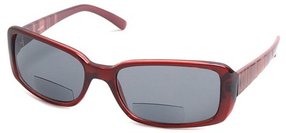 Angle of Omni #434 in Clear Red, Women's and Men's Square Reading Sunglasses