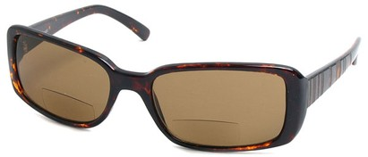 Angle of Omni #434 in Tortoise, Women's and Men's Square Reading Sunglasses
