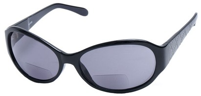 Angle of SW Bifocal Style #435R in Black Frame, Women's and Men's