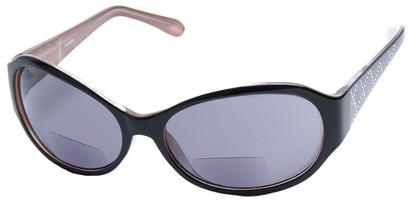 Angle of SW Bifocal Style #435R in Black and Tan Frame, Women's and Men's
