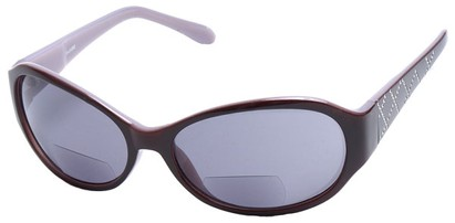 Angle of SW Bifocal Style #435R in Brown and Purple Frame, Women's and Men's