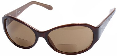 Angle of SW Bifocal Style #435R in Brown and Tan Frame, Women's and Men's