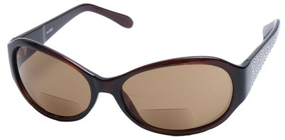 Angle of SW Bifocal Style #435R in Brown Frame, Women's and Men's