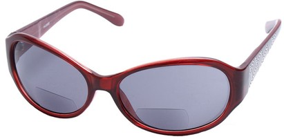 Angle of SW Bifocal Style #435R in Red Frame, Women's and Men's