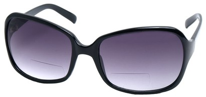 Angle of SW Oversized Bi-Focal Style #7606 in Black Frame, Women's and Men's