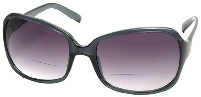 Angle of SW Oversized Bi-Focal Style #7606 in Grey Frame, Women's and Men's