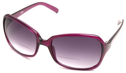 Angle of SW Oversized Bi-Focal Style #7606 in Purple Frame, Women's and Men's