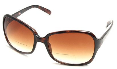 Angle of SW Oversized Bi-Focal Style #7606 in Tortoise Frame with Amber Lenses, Women's and Men's