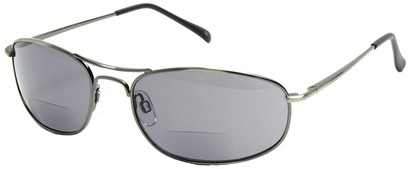 Angle of Mason #505 in Silver, Women's and Men's Aviator Reading Sunglasses
