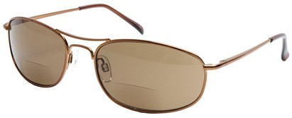 Angle of Mason #505 in Bronze, Women's and Men's Aviator Reading Sunglasses