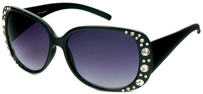 Angle of SW Rhinestone Style #1976 in Black Frame, Women's and Men's