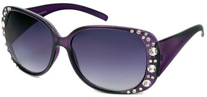Angle of SW Rhinestone Style #1976 in Purple Frame, Women's and Men's