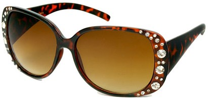 Angle of SW Rhinestone Style #1976 in Tortoise Brown Frame, Women's and Men's