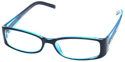 Angle of SW Clear Style #2902 in Black and Blue Frame, Women's and Men's