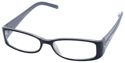 Angle of SW Clear Style #2902 in Black and Grey Frame, Women's and Men's