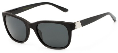 Angle of Savoy #3866 in Matte Black Frame with Smoke Lenses, Women's Retro Square Sunglasses