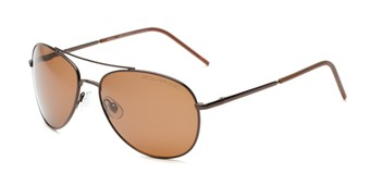 Angle of Ranger #1680 in Bronze Frame with Amber Lenses, Women's and Men's Aviator Sunglasses