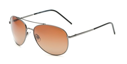 Angle of Ranger #1680 in Grey Frame with Amber Lenses, Women's and Men's Aviator Sunglasses