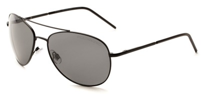 Angle of Ranger #1680 in Black Frame with Grey Lenses, Women's and Men's Aviator Sunglasses
