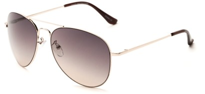 Angle of Reef #6250 in Gold Frame with Rose Smoke Lenses, Women's and Men's Aviator Sunglasses