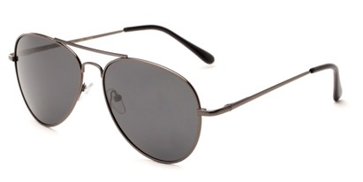 Angle of Rift #2000 in Matte Grey Frame with Grey Lenses, Women's and Men's Aviator Sunglasses