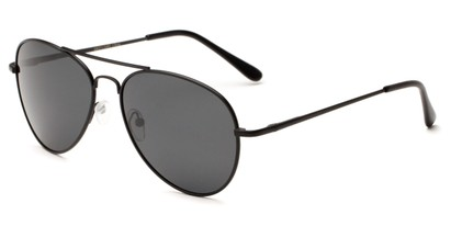 Angle of Rift #2000 in Matte Black Frame with Smoke Lenses, Women's and Men's Aviator Sunglasses