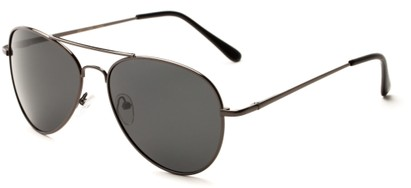 Angle of Rift #2000 in Glossy Grey Frame with Grey Lenses, Women's and Men's Aviator Sunglasses