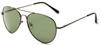Angle of Rift #2000 in Matte Grey Frame with Green Lenses, Women's and Men's Aviator Sunglasses