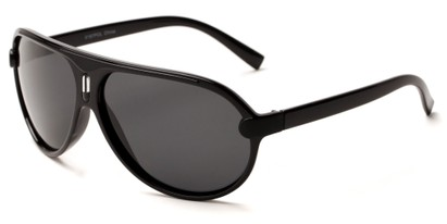 Angle of Riptide #9388 in Black Frame with Grey Lenses, Men's Aviator Sunglasses