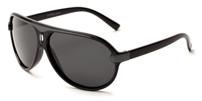 Angle of Riptide #9388 in Black/Grey Frame with Grey Lenses, Men's Aviator Sunglasses