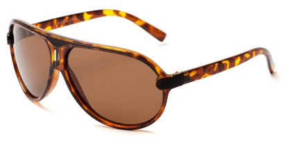 Angle of Riptide #9388 in Tortoise Frame with Amber Lenses, Men's Aviator Sunglasses