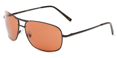Angle of Roadie #20540 in Black Frame, Men's Aviator Sunglasses