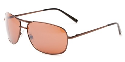 Angle of Roadie #20540 in Bronze Frame, Men's Aviator Sunglasses
