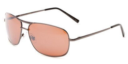 Angle of Roadie #20540 in Grey Frame, Men's Aviator Sunglasses