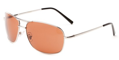 Angle of Roadie #20540 in Silver Frame, Men's Aviator Sunglasses