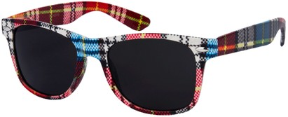 Angle of SW Plaid Style #8816 in Red/White/Blue Frame, Women's and Men's