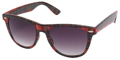 Plaid Wayfarer Sunglasses