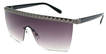 Angle of SW Studded Shield Style #3180 in Black and Grey, Women's and Men's