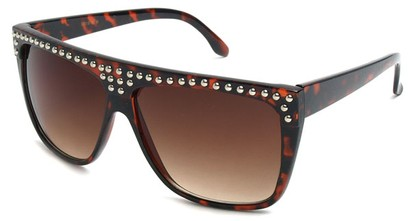 Angle of SW Studded Style #9850 in Brown Tortoise, Women's and Men's