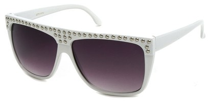 Angle of SW Studded Style #9850 in White, Women's and Men's