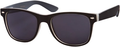Angle of SW Retro Style #1232 in Black Frame, Women's and Men's