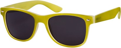 Angle of SW Retro Style #1232 in Lime Green Frame, Women's and Men's
