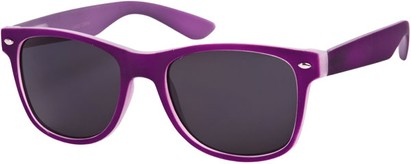 Angle of SW Retro Style #1232 in Purple Frame, Women's and Men's