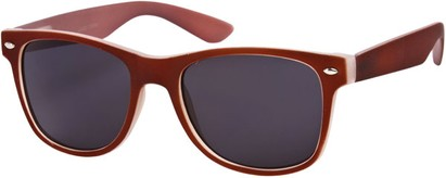 Angle of SW Retro Style #1232 in Red Frame, Women's and Men's