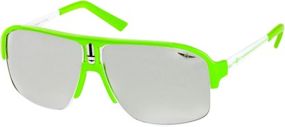 Angle of SW Neon Aviator #8909 in Neon Green Frame with Mirrored Lenses, Women's and Men's